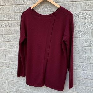 Joie Effie Cross Back Cashmere Wool Blend Sweater